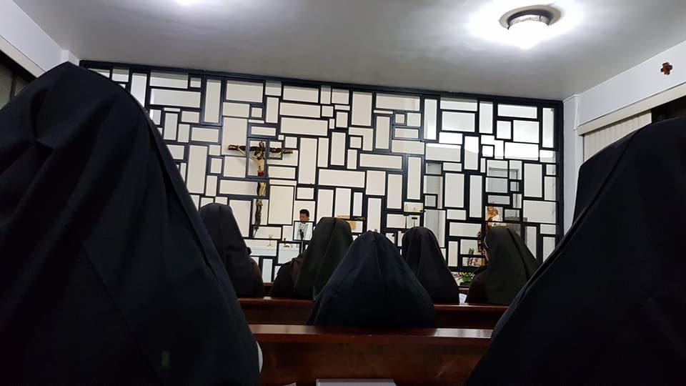 Misa en el Convento Carmelitas Descalzas Tlacopac