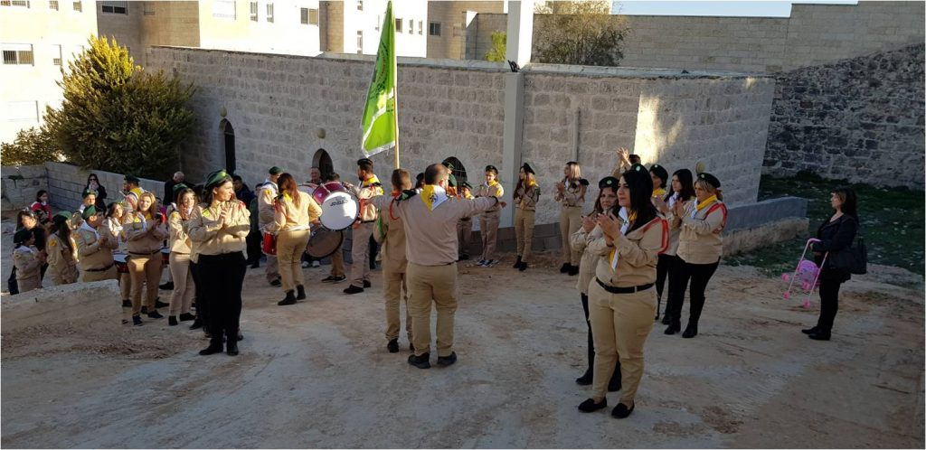 Scouts visit Saint Mary of Jesus Crucified